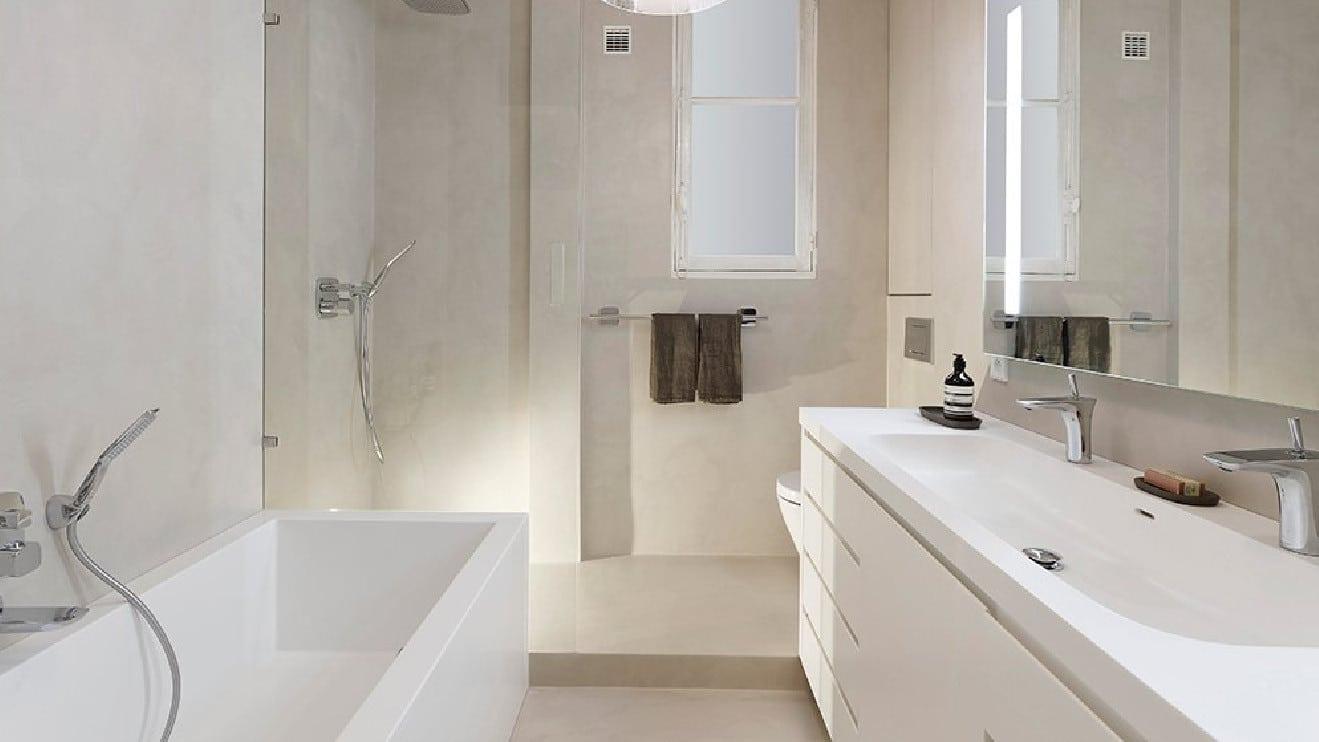 Le plan d'une salle de bain en longueur : optimisation d'agencement
